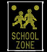 SCHOOL ZONE ADVANCED WARNING