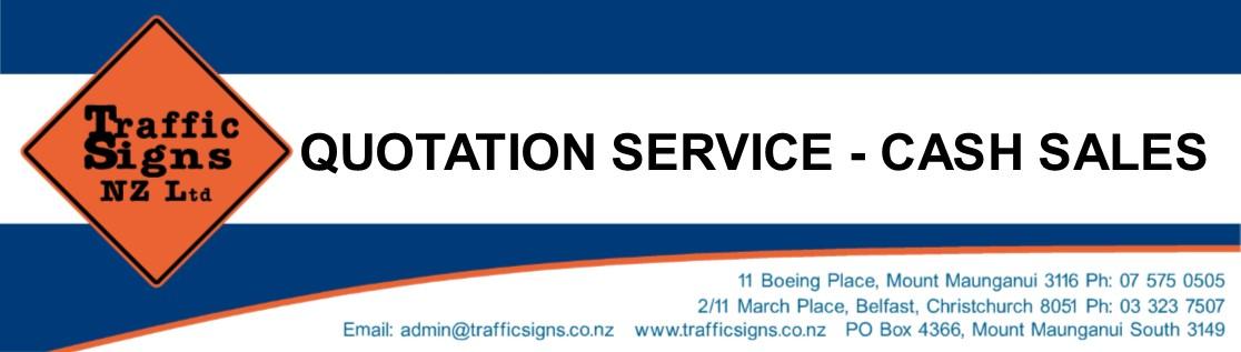 QUOTATION SERVICE & CASH SALES